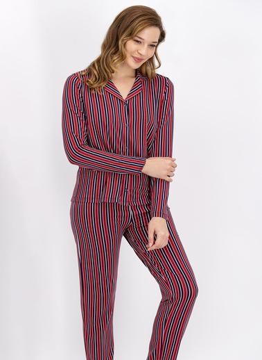 Arnetta Pijama Takım Bordo